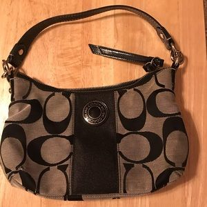 Coach mini bag, black & gray
